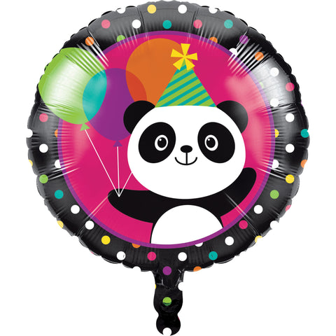 "Panda-monium 18"" Metallic Balloon/Case of 10"