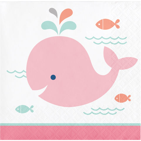 Lil' Spout Pink Beverage Napkin/Case of 192