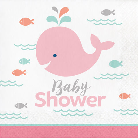 Lil' Spout Pink Baby Shower Luncheon Napkin/Case of 192