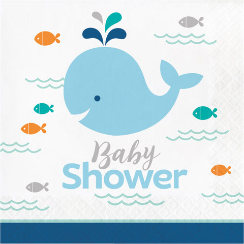 Lil' Spout Blue Baby Shower Luncheon Napkin/Case of 192