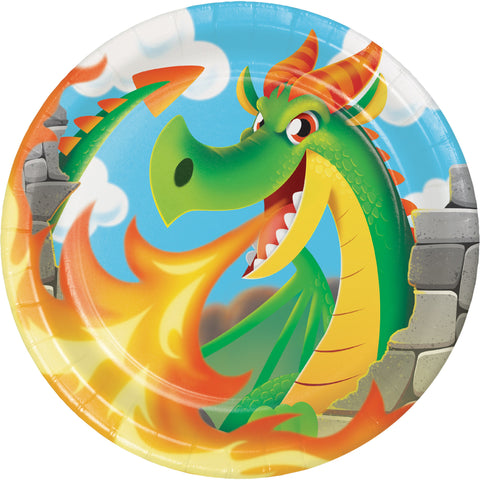 "Dragon 8 3/4"" Round Paper Dinner Plate/Case of 96"