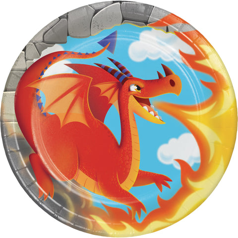 "Dragon 7"" Round Paper Luncheon Plate/Case of 96"