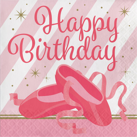 "Twinkle Toes ""Happy Birthday"" Luncheon Napkin/Case of 192"