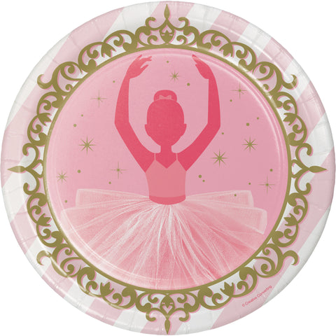 "Twinkle Toes 8 3/4"" Round Paper Dinner Plate/Case of 96"