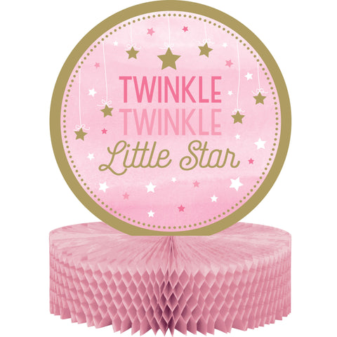 "One Little Star Girl 12"" x 9"" Honeycomb Centerpiece/Case of 6"