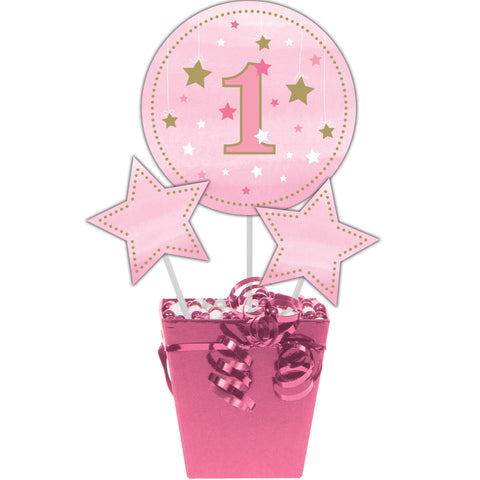 One Little Star Girl Centerpiece Sticks/Case of 18