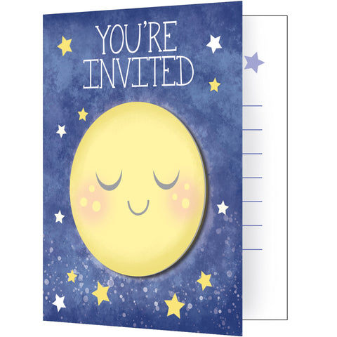 "To the Moon and Back 5"" x 4"" Invitation w/Attachment/Case of 48"