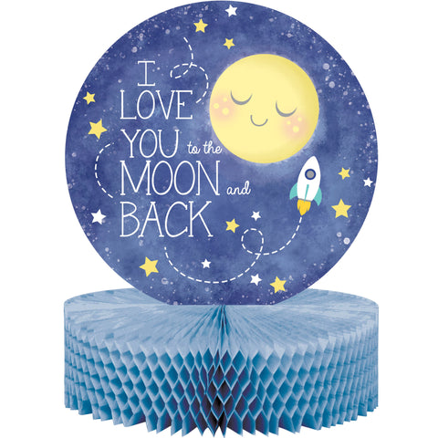 "To the Moon and Back 12"" x 9"" Honeycomb Centerpiece/Case of 6"