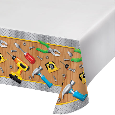Handyman 54 x 102 Plastic Tablecover Border/Case of 6