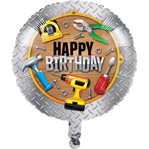 "Handyman 18"" Metallic Balloon/Case of 10"