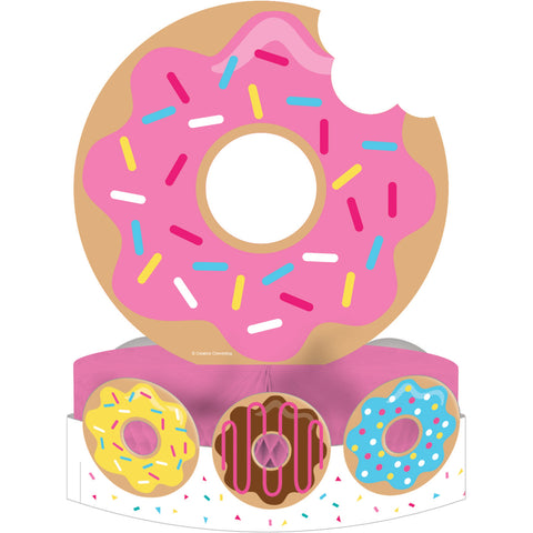 "Donut Time 12"" x 9"" Centerpiece Honeycomb w/Attachment/Case of 6"