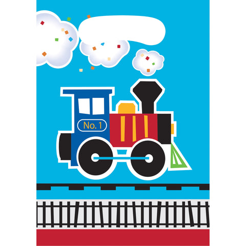 "All Aboard 9"" x 6 1/2"" Plastic Loot Bags/Case of 96"