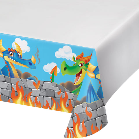 Dragon 54 x 102 Plastic Tablecover Border/Case of 6