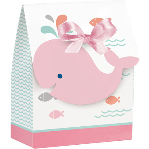 Lil' Spout Pink 4 1/2 x 3 1/2 x 1 1/2 Favor Bags w/Ribbon/Case of 72