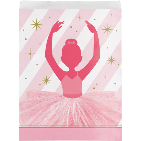 "Twinkle Toes 8 3/4"" x 6 1/2"" Paper Treat Bag/Case of 120"