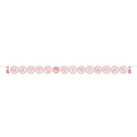 "Twinkle Toes 6"" x 8 1/2' Shaped Ribbon Banner/Case of 6"