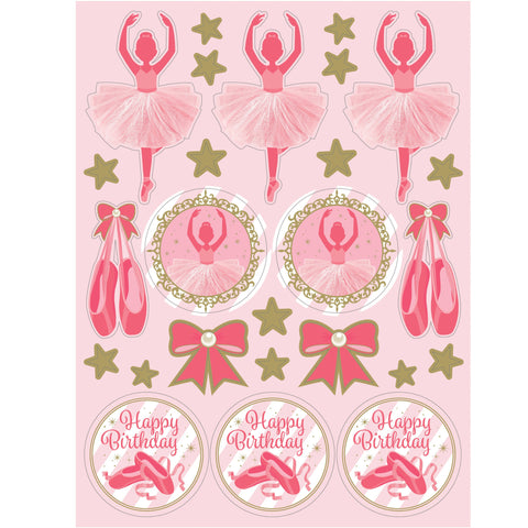 "Twinkle Toes 6"" x 4 1/2"" Value Stickers/Case of 48"