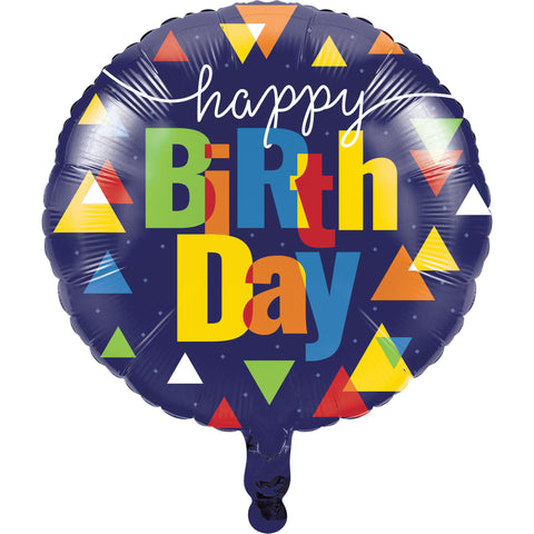 "Geo Pop 18"" Metallic Balloon/Case of 10"
