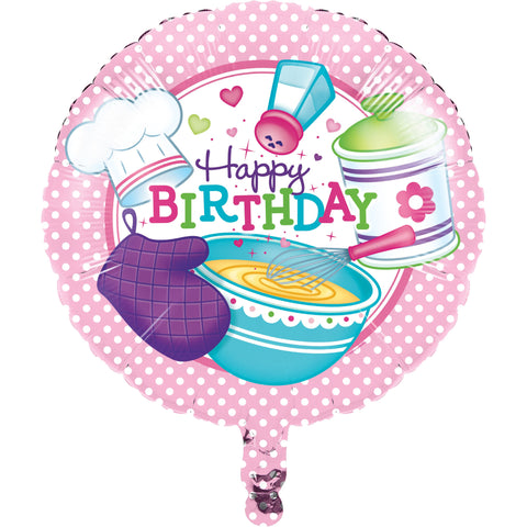 "Little Chef 18"" Metallic Balloon/Case of 10"