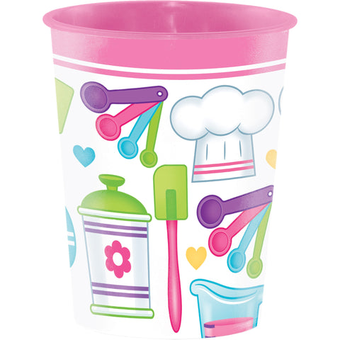 Little Chef 16 Oz. Plastic Keepsake Cup/Case of 12