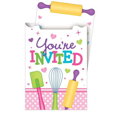 Little Chef 6 x 4 Invitation Pop-up Card/Case of 48