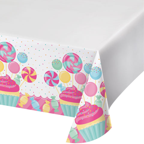 Candy Bouquet 48 x 88 Plastic Tablecover/Case of 12