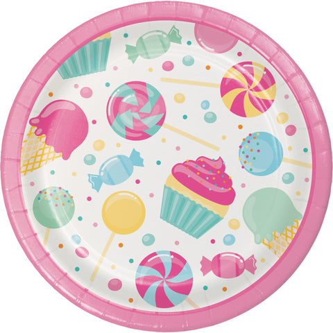 "Candy Bouquet 6 7/8"" Round Luncheon Plate/Case of 96"