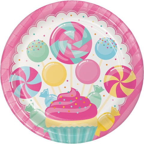 "Candy Bouquet 8 3/4"" Round Dinner Plate/Case of 96"