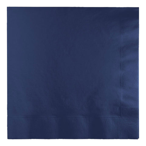 2 Ply Lunch Napkins Bulk Navy/Case of 900