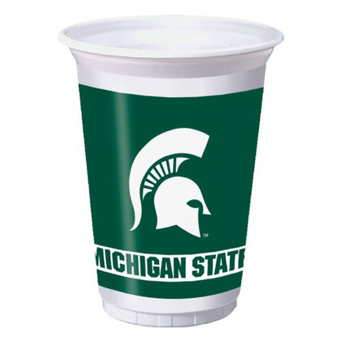 20 oz Printed Plastic Cups Michigan State Univ/Case of 96