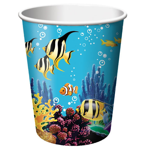 9 oz Hot/Cold Paper Cups Ocean Party/Case of 96