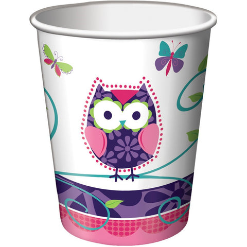 9 oz Hot/Cold Paper Cups Owl Pal Birthday/Case of 96