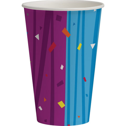12 oz Hot/Cold Paper Cups Milestone Celebrations/Case of 96