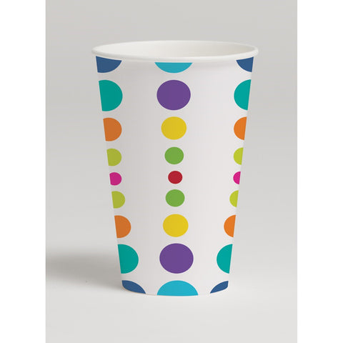 12 oz Hot/Cold Paper Cups Birthday Pop/Case of 96