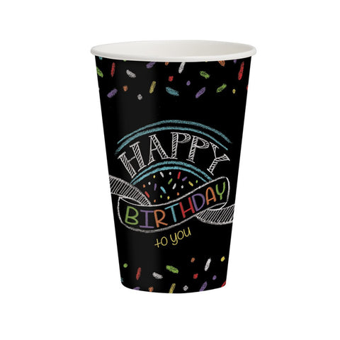 Chalk Birthday 12 oz Hot/Cold Cups/Case of 96