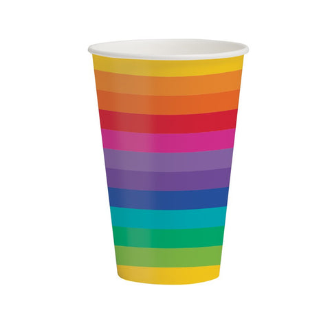 Rainbow 12 oz Hot/Cold Cups/Case of 96