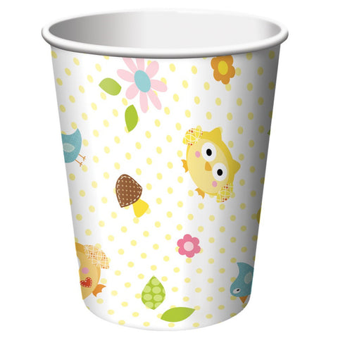 9 oz Hot/Cold Paper Cups Happi Tree/Case of 96