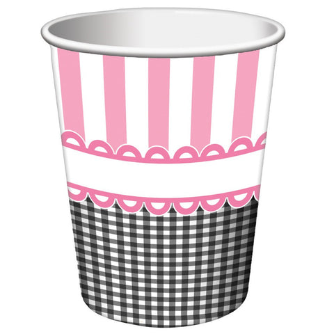 9 oz Hot/Cold Paper Cups Sweet Baby Feet Pink/Case of 96