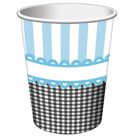 9 oz Hot/Cold Paper Cups Sweet Baby Feet Blue/Case of 96