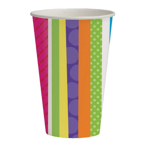 Bright And Bold 9 oz Hot/Cold Paper Cups/Case of 96