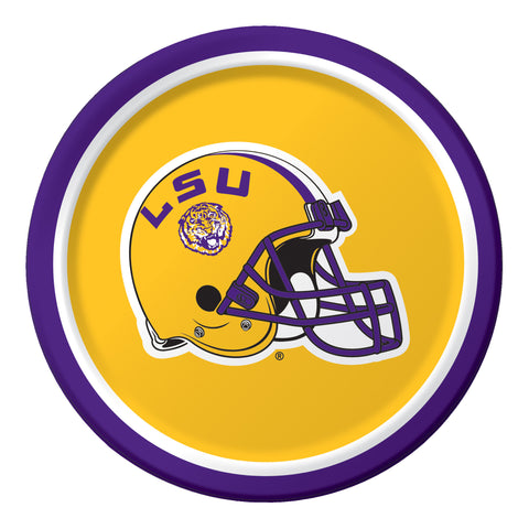 LouisiaState Univ 7 Inch Lunch Plates/Case of 96