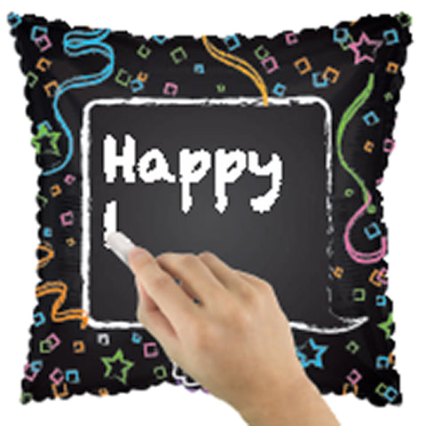 "17"" Chalkboard Balloon/Case of 5"