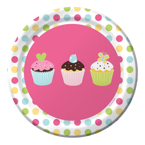7 inch Lunch Plates Sweet Treats/Case of 96