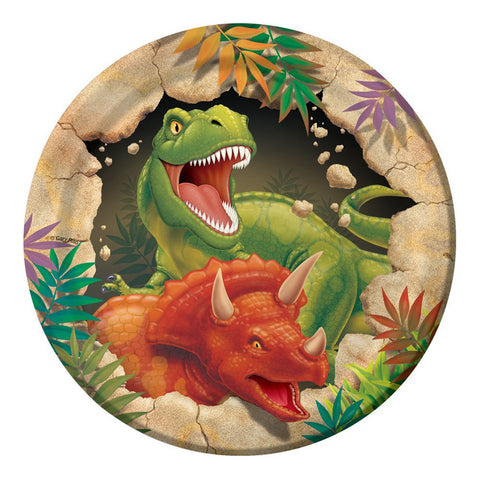 7 inch Lunch Plates Dino Blast/Case of 96
