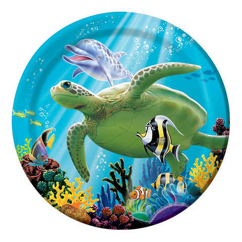 7 inch Lunch Plates Ocean Party/Case of 96