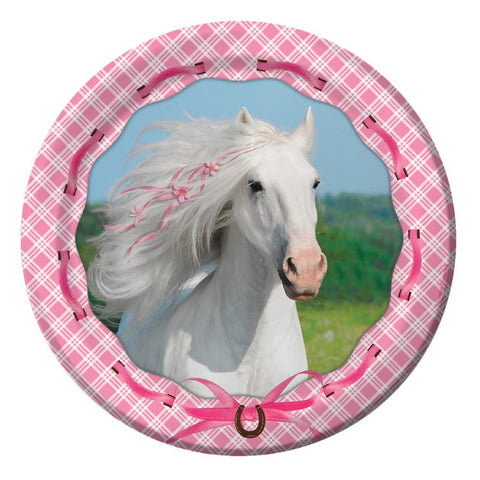 7 inch Lunch Plates Heart My Horse/Case of 96
