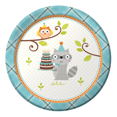 Happi Woodland Boy 7 inch Round Lunch Plates/Case of 96