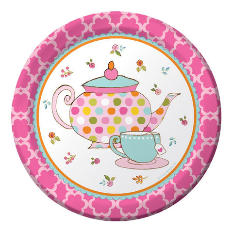 Tea Time 7 inch Round Lunch Plates/Case of 96