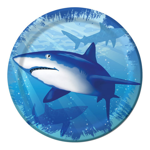 7 inch Lunch Plates Shark Splash/Case of 96