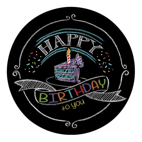 Chalk Birthday 7 inch Round Lunch Plates/Case of 96